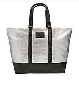 Victoria's Secret Bags - Victoria's Secret Silver Tote Bag